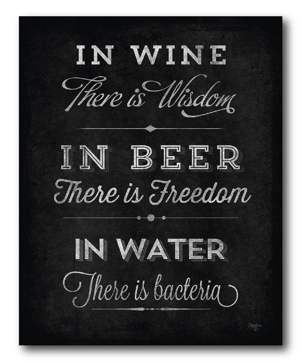 Love This 'In Wine There Is Wisdom' Canvas By COURTSIDE