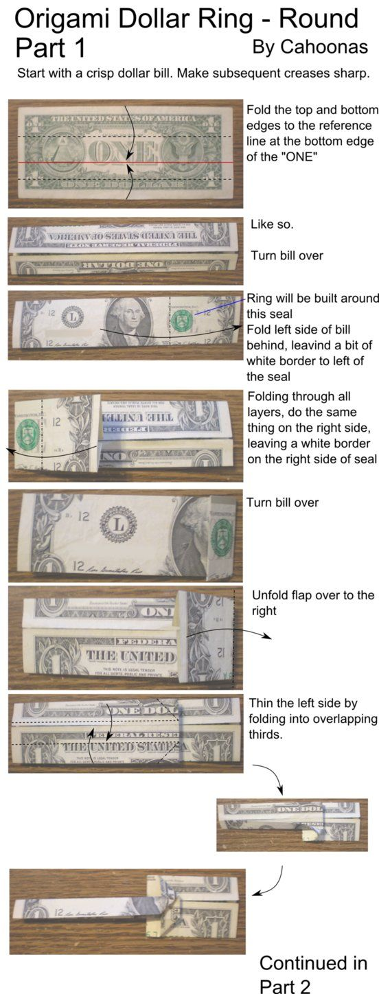 How to make a one dollar bill ring
