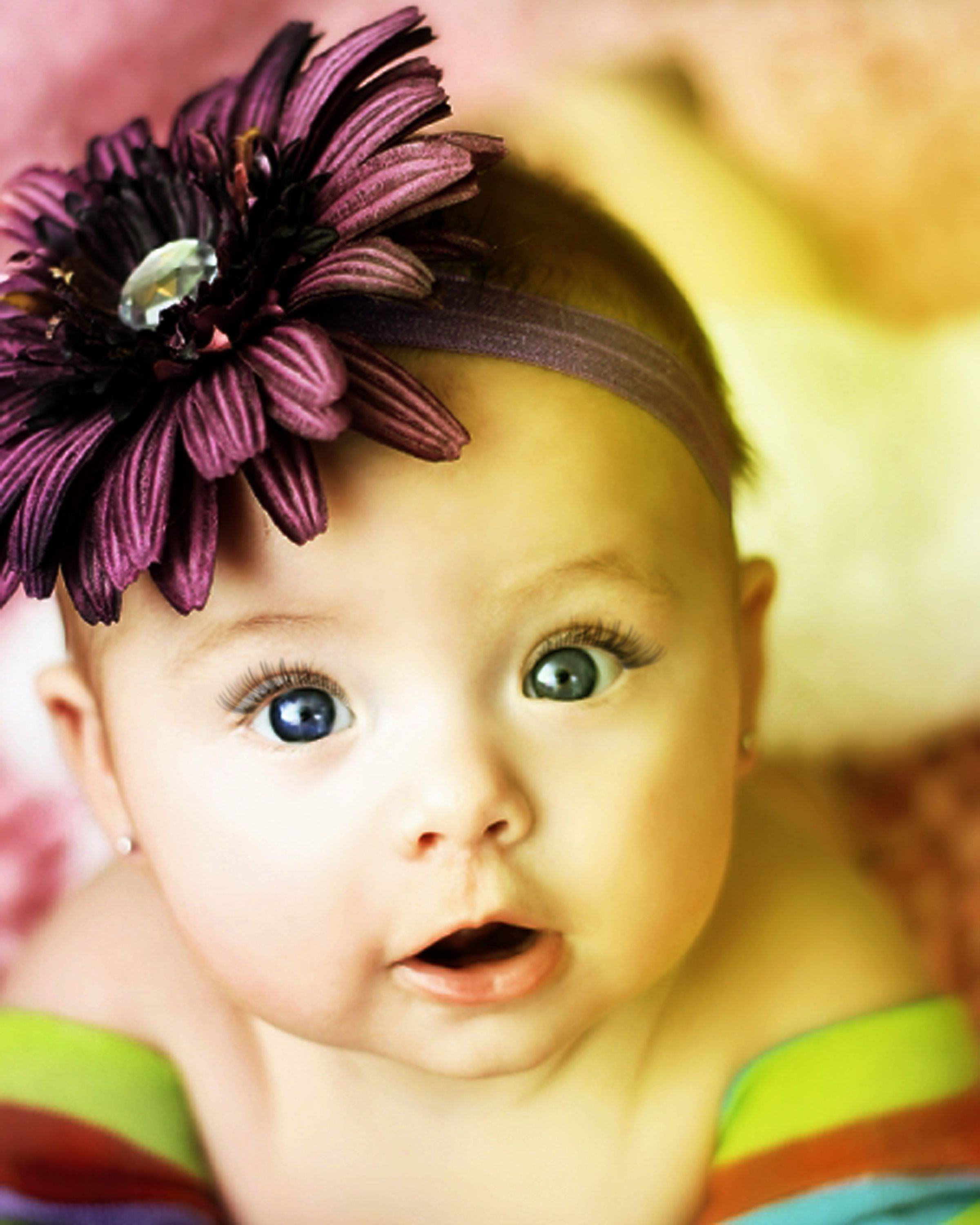 need to make head bands with large flowers on them for little girls portraits