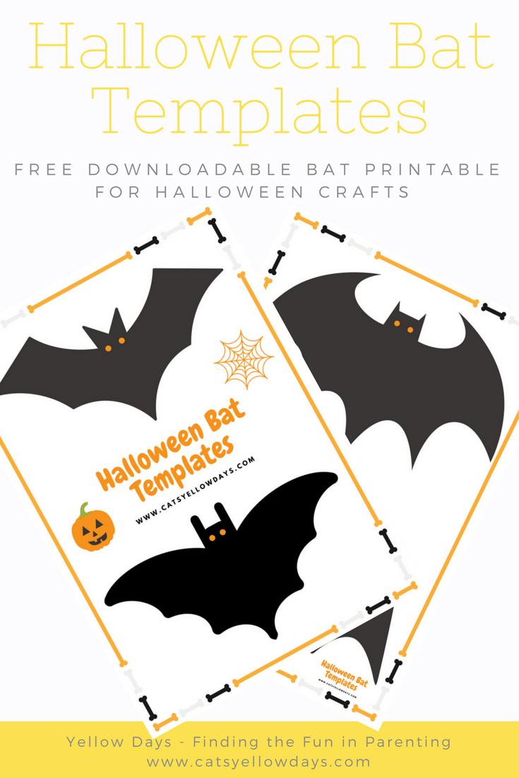 free printable halloween bat cut out template for crafts and decor