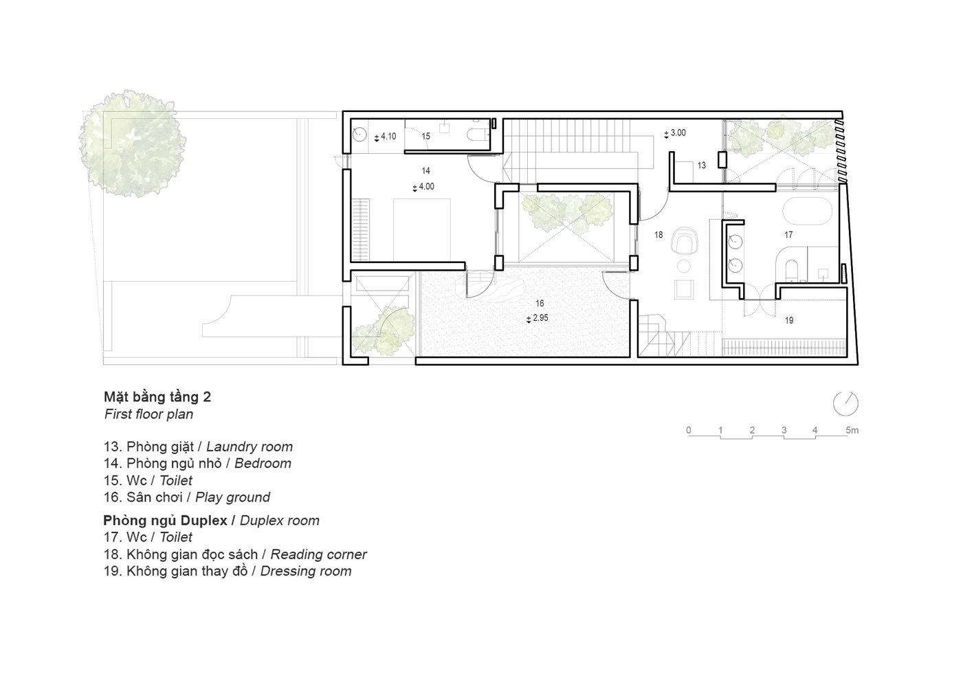 Gallery Of 8x24 House Ahl Architects 35 Architect Architecture Plan House