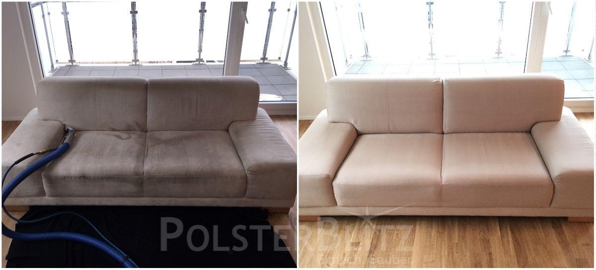 Sauberes Sofa Polsterreinigung Mit Polsterblitz Polster Reinigen Tiefenreinigung