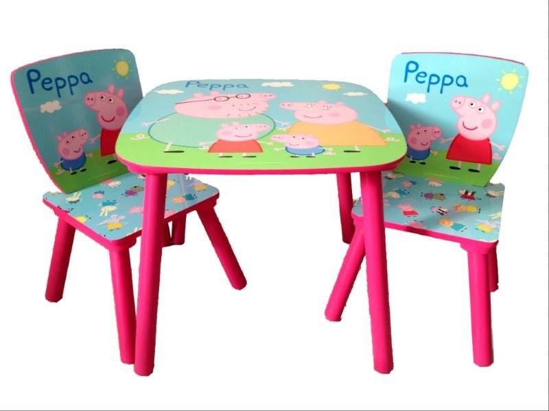 Peppa Pig Tavolino In Legno E Seggiole Tavoli E Sedie