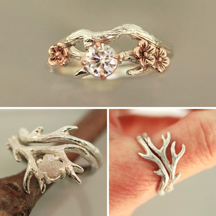original stackable unique wedding products moonstone thumbnail ring simone rustic rings