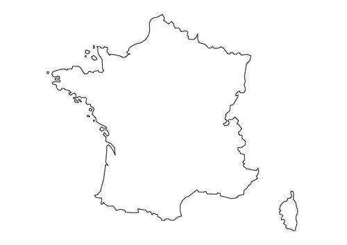 carte de france à colorier Coloriage carte de la France | Carte de france, Coloriage, Carte