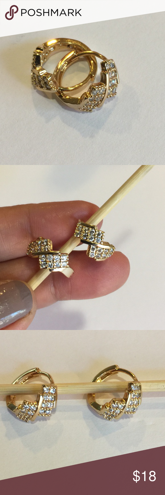 14k Bangkok Gold Dipped Earings Brand new  Price is firm