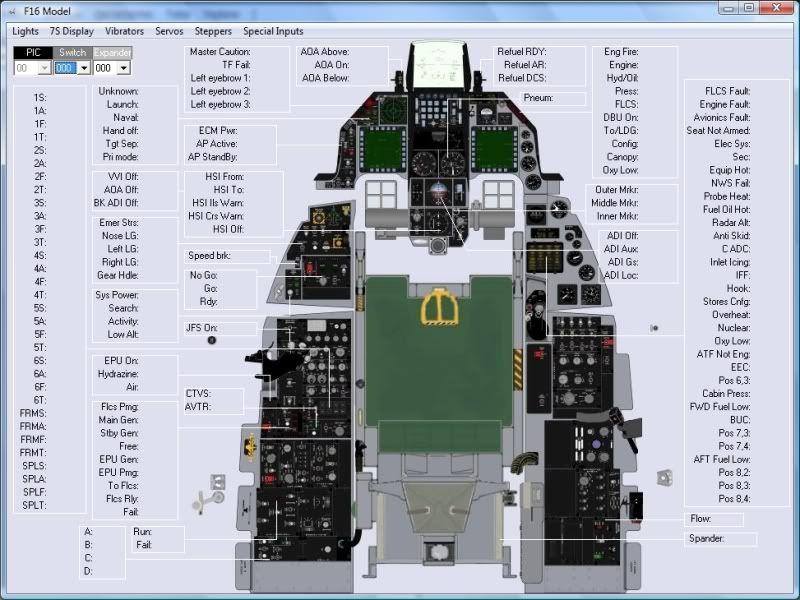 F-18 cockpit