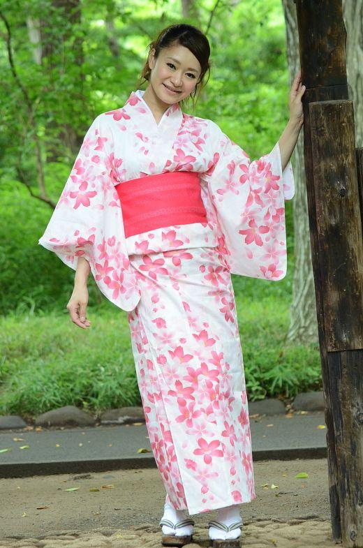 1144ef072 Yukata kimono Market sakura / Yukata kimono for women   WF kimono ...