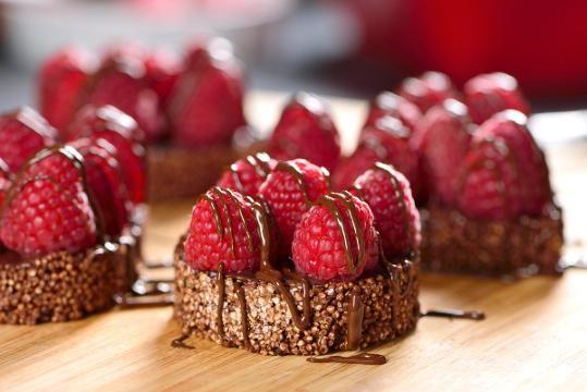 Amaranto con Chocolate y Frambuesas