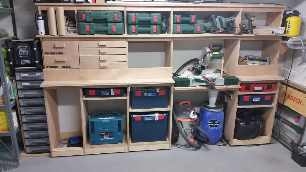Erreur 404   Atelier bricolage bois, Intérieur de garage, Amenagement garage