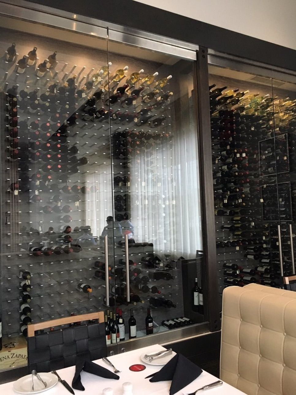Glass enclosed wine cellar - Glass Enclosed Wine Cellars Commercial Wine Displays Stact Wine Racks