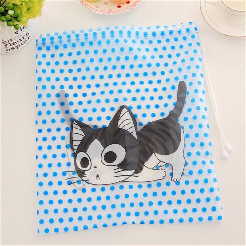 $2.59 (Buy here: http://appdeal.ru/9sjo ) 1 PCS Helpful Cartoon Cat,Duck,Panda Travel Cosmetic Bag Fashion Waterproof  Makeup Bag Toiletry Pouch Drawstring Organize Bag for just $2.59