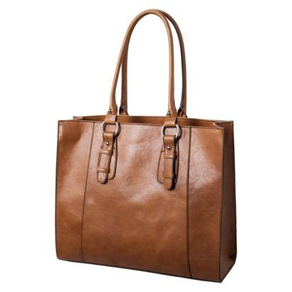 Merona reg  Cognac Smooth Tote Handbag - Brown  30!  2fcdf7fb0e673