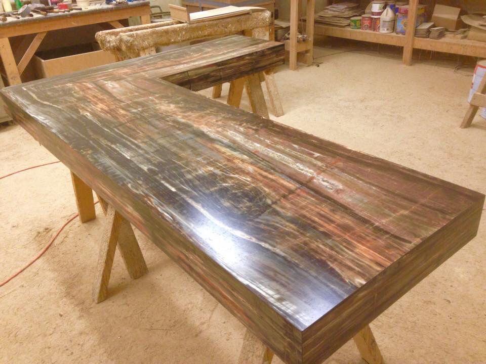 Petrified Wood Laminate Bartop All Custom Poney S Shopsmall