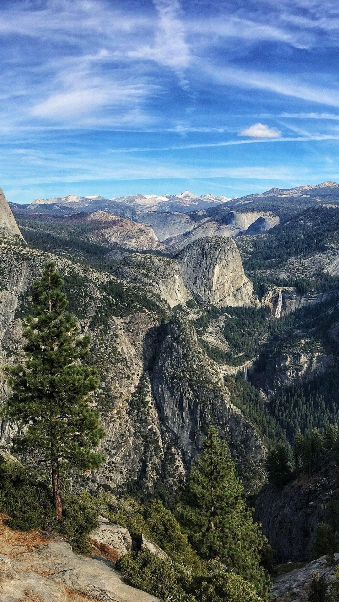 Summer Mountain Yosemite Nature Cloud Sky Iphone 6 Plus