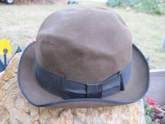 18f344a1af07f Felt Mans Hat with Black Bow Town Craft by Daysgonebytreasures ...