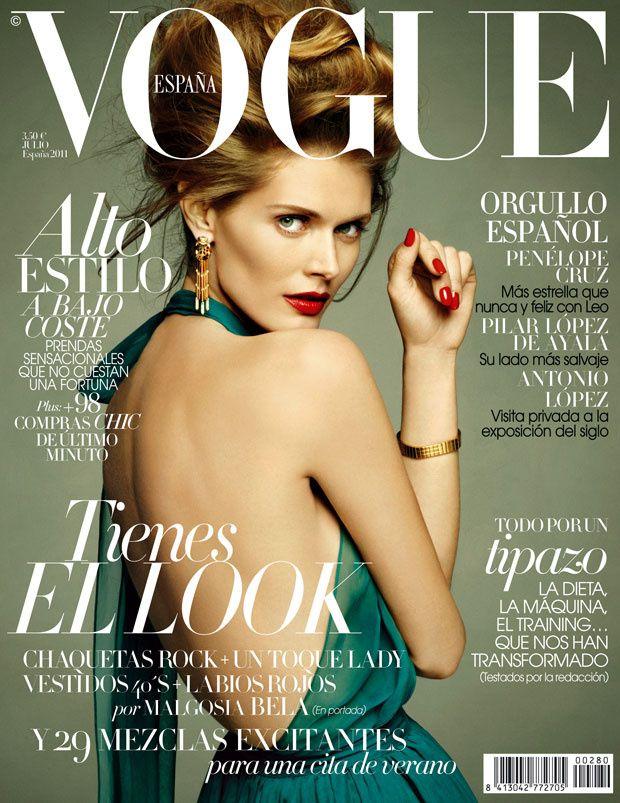 727144791ec25 Malgosia Bela Throughout the Years in Vogue   Vogue España Best ...