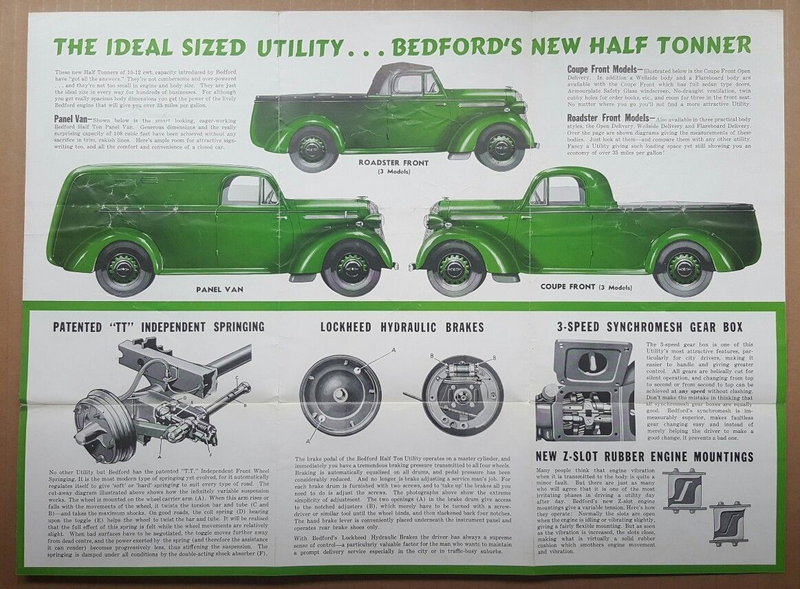 Bedford Ute Brochure Australia Lockheed Roadsters Ute