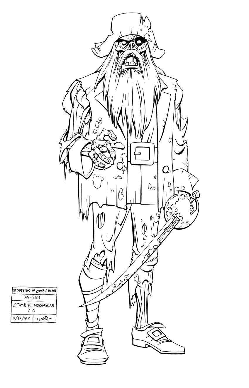morgan moonscar zombie pirate art i found piracy pinterest