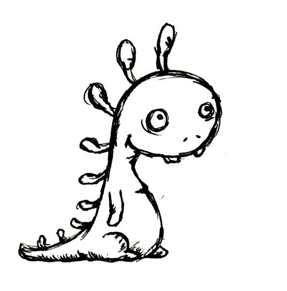Cute Dino Creature Sketch With Images Creature Drawings Cute