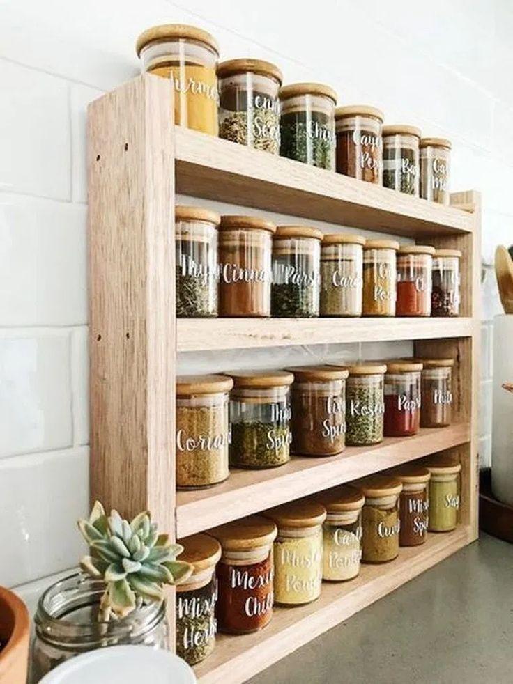 16 Inspiring Kitchen Cabinet Organization Ideas Kitchenorganization Kitchenideas Kitche Diy Kitchen Storage Kitchen Spice Racks Kitchen Cabinet Organization
