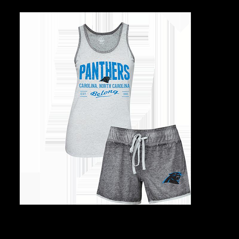 newest 5ff20 ccb65 Tank & Short Deed Sleep Set  Carolina Panthers Official Shop ...