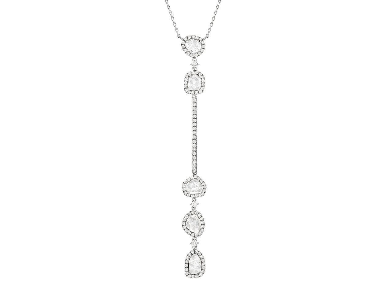 Fiona Double Slice and Full Cut Diamond Long Necklace