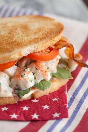 Lobster Club Sandwich Recipe by Paula Deen | Recipe | Baby ...