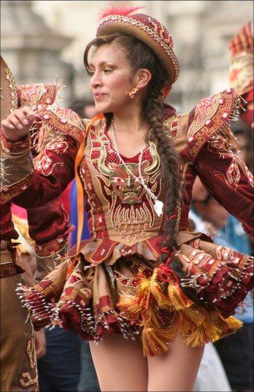 5bef3e41a6 TRAJES TIPICOS DEL PERU Traditional Peruvian Dresses  Caporales (Puno)