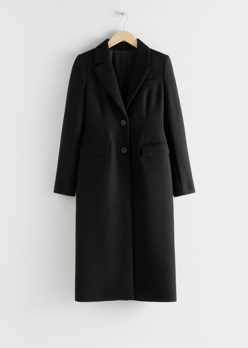 Hourglass Wool Blend Coat Other Stories Andotherstories Fashion Coats [ 1120 x 800 Pixel ]