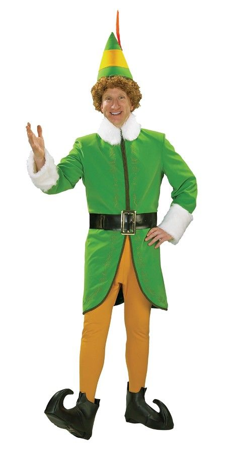Buddy The Elf Deluxe Adult Costume - Perfect costume for Christmas. Santa needs his helpers  sc 1 st  Pinterest & Buddy The Elf Deluxe Adult Costume - Perfect costume for Christmas ...