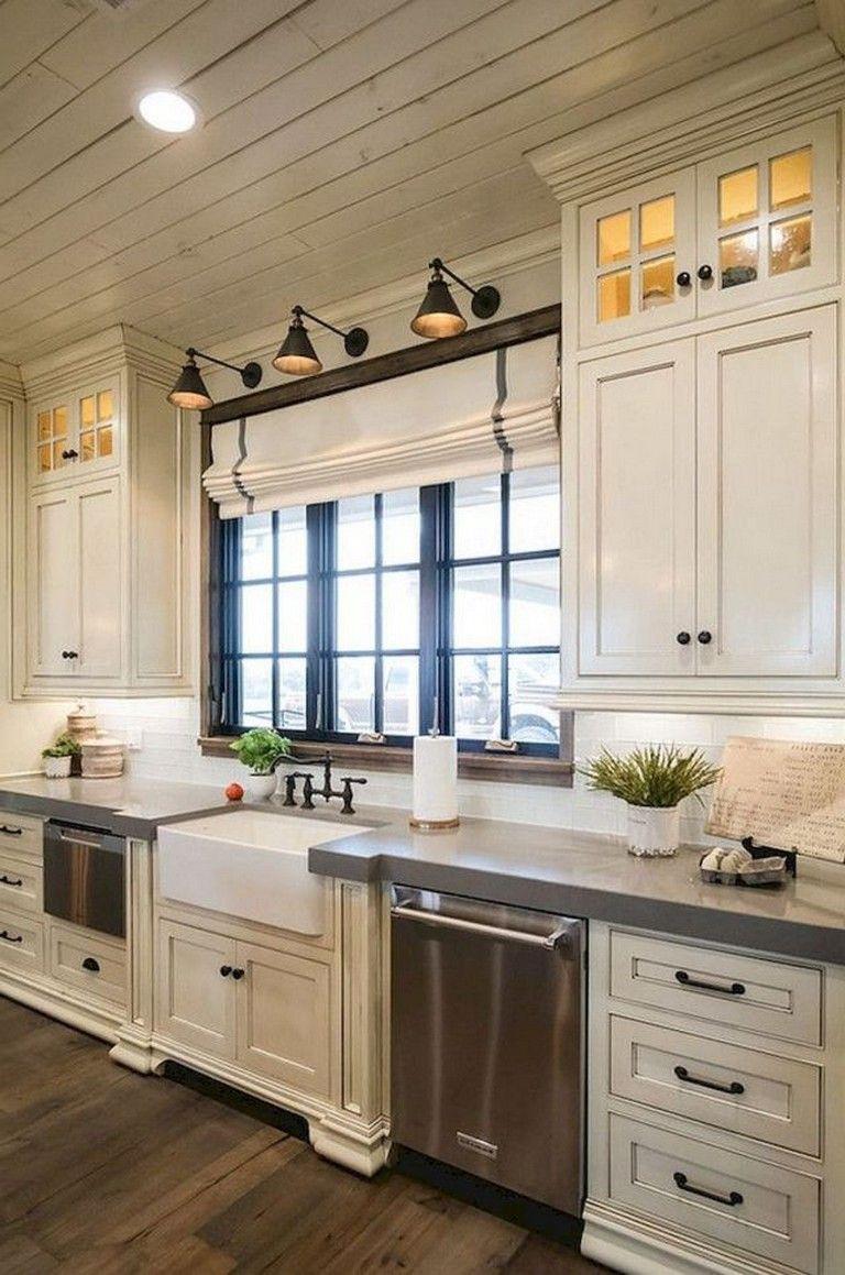 100 Amazing Modern Farmhouse Kitchen Cabinet Makeover Design Ideas Kitchenr Kitchen Cabinets And Backsplash Farmhouse Kitchen Decor Modern Farmhouse Kitchens