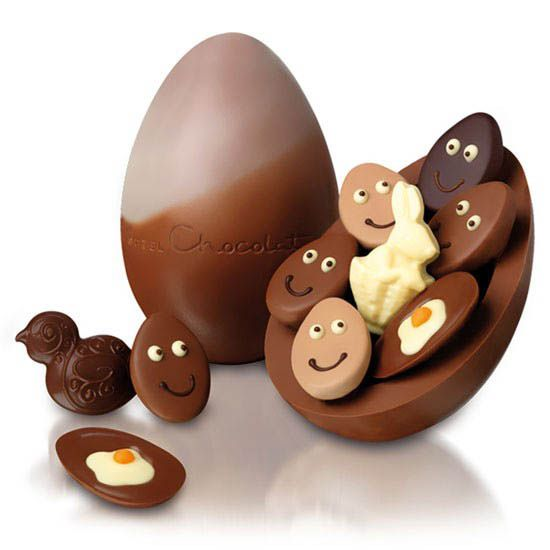 Easter chocolate egg with minis #easter #egg #chocolate