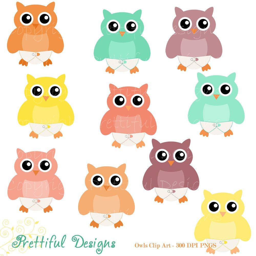 Baby Owl Clip Art Diaper Owl Clipart Digital Scrapbooking Cu Ok Instant Download Owl Clip Art Baby Owls Clip Art