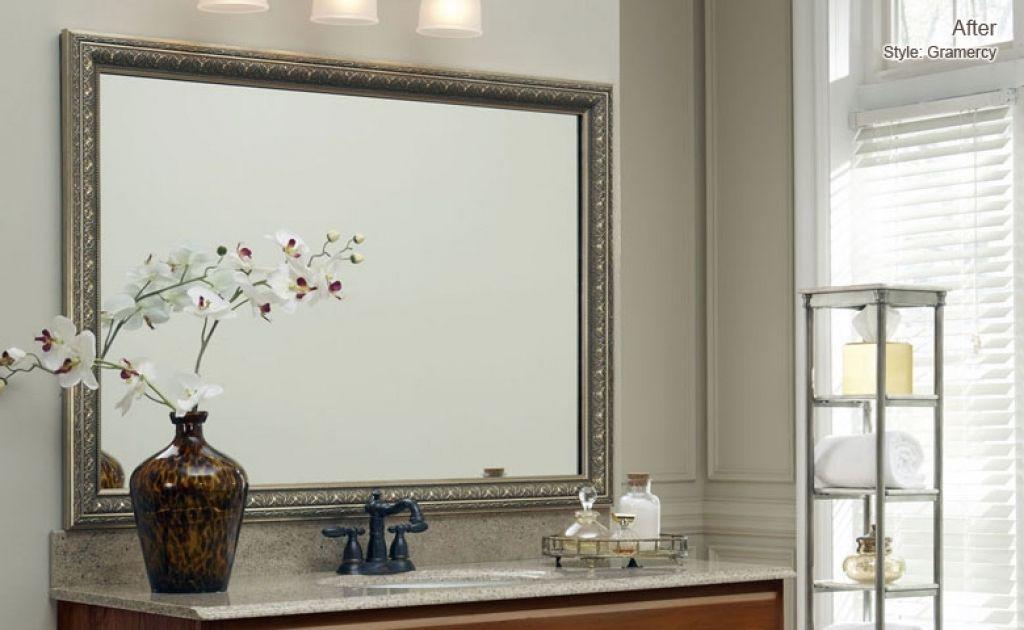 bathroom mirror frame kit australia stribal com design interior rh pinterest com au Stick On Frames for Mirrors Pre-made Mirror Frame Kits