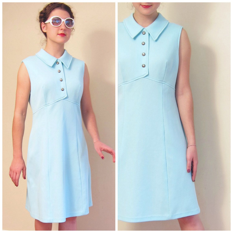 Vintage 1960s A Line Day Dress Blue Knit 60s Baby Blue Shift Etsy Day Dresses Dresses Blue Dresses [ 1500 x 1500 Pixel ]