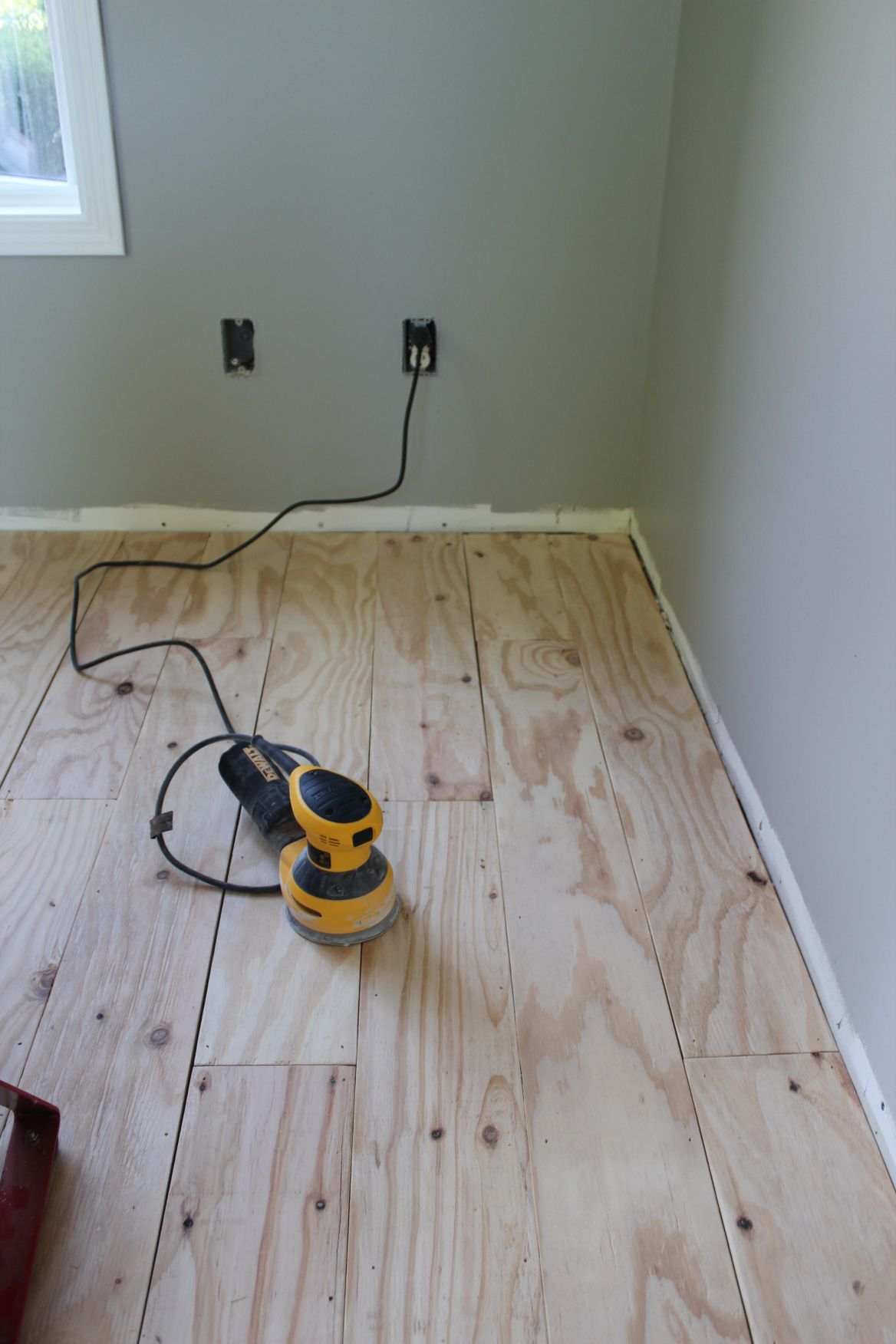 DIY Plywood Plank Flooring Plywood plank flooring, Diy