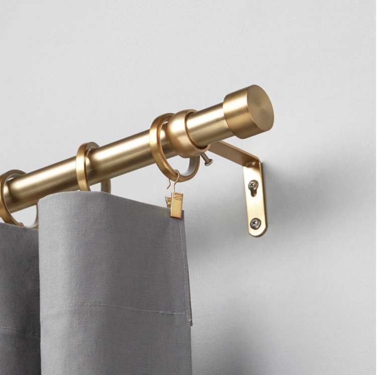 When To Splurge When To Save How Do You Decide Window Curtain Rods Brass Curtain Rods
