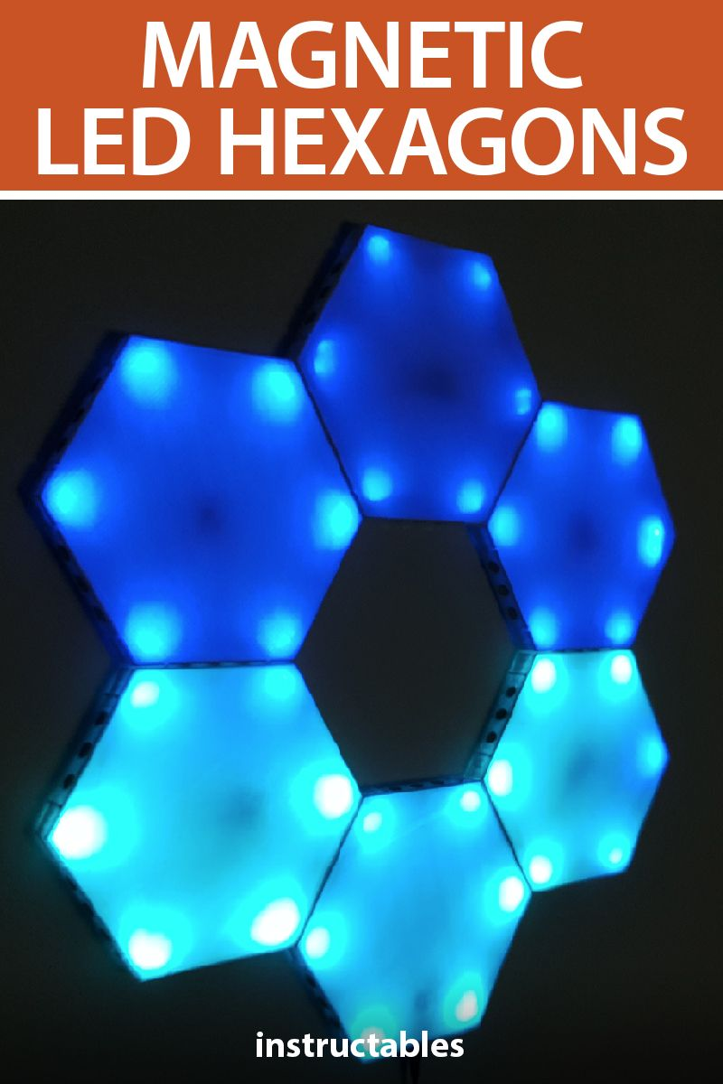 LED Hexagons Led projects, Hexagon, Led