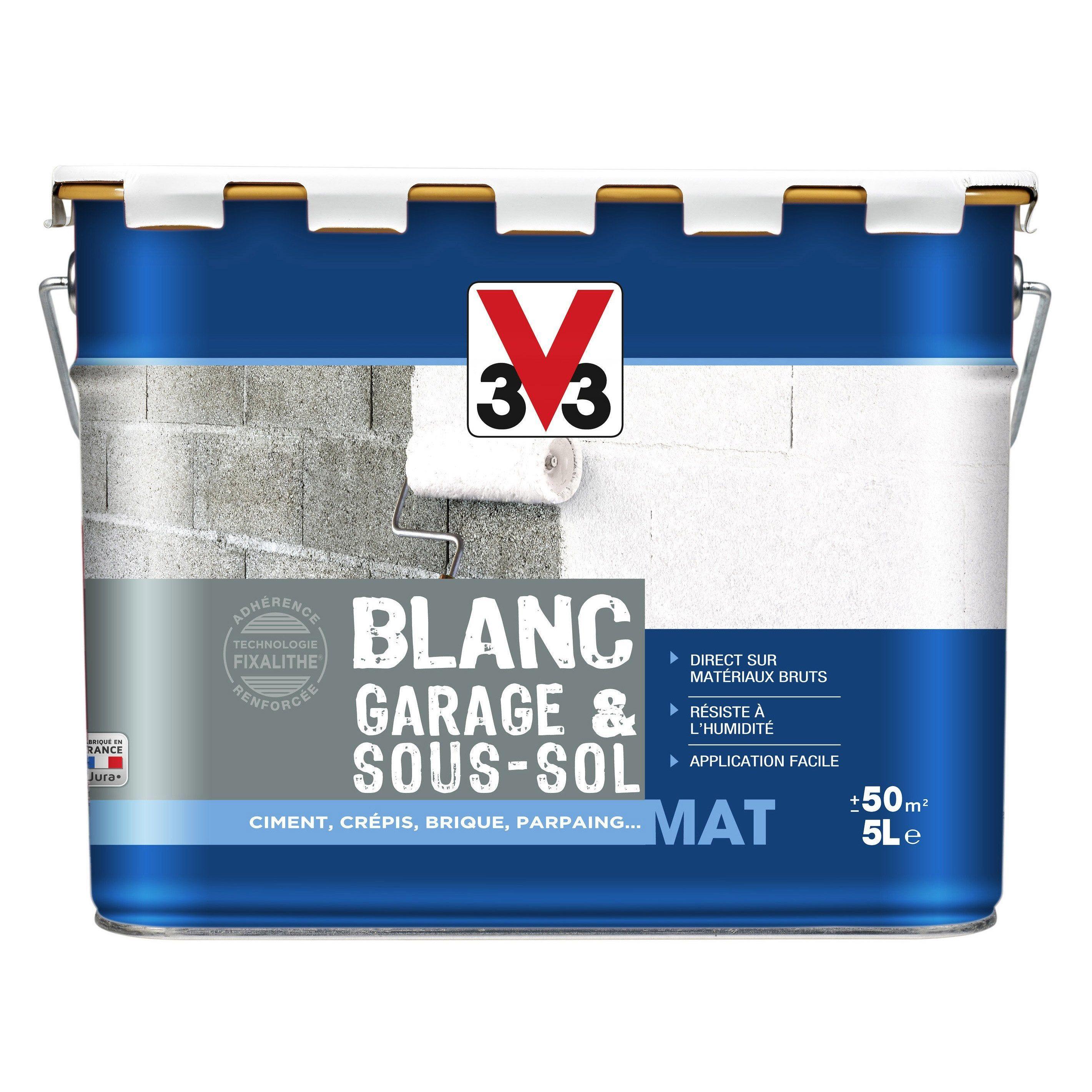 Peinture Blanc Mur Garage Sous Sol V33 Mat 5 L Products