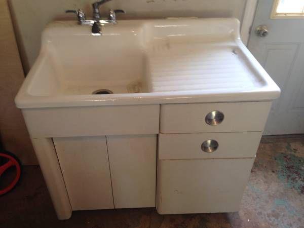 Sink with drain board   Sink, Home decor, Decor