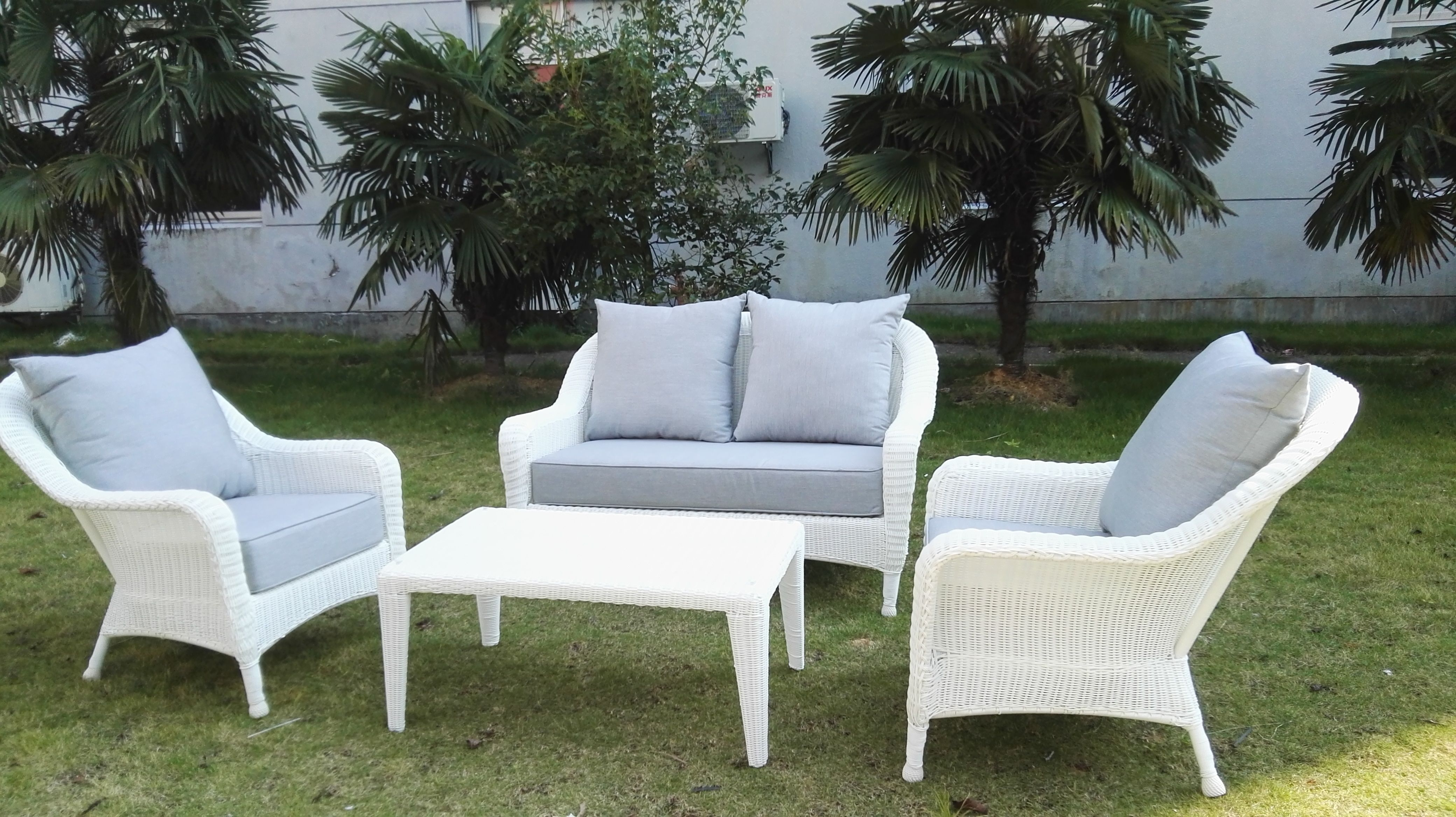 home depot outdoor furniture TG 16162 rattan sofa