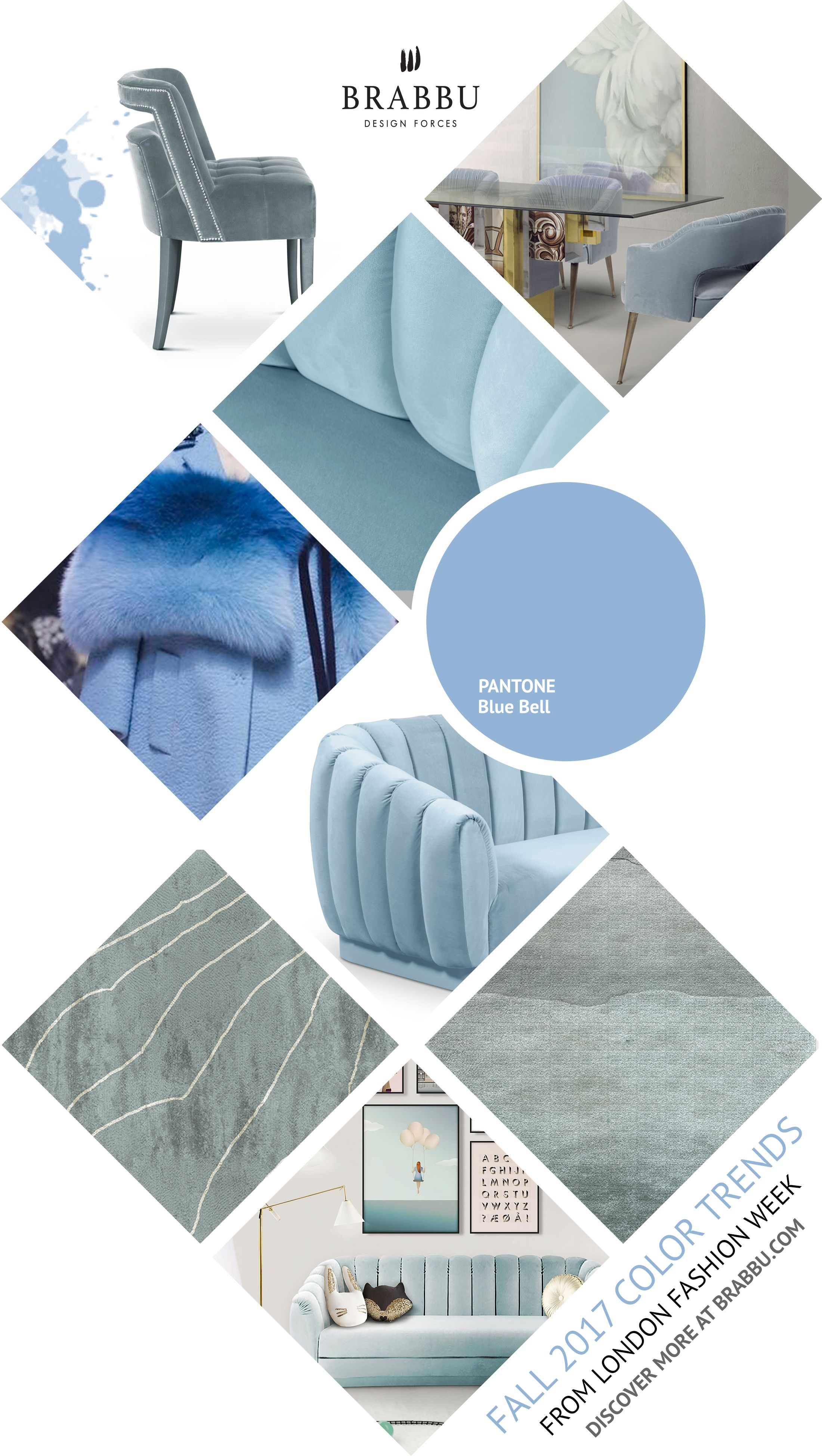 Fall 2017 Color Trends From London Fashion Week: Blue Bell ...