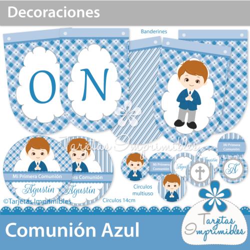Decoraciones de primera comunión para imprimir. #comunión #niños ...