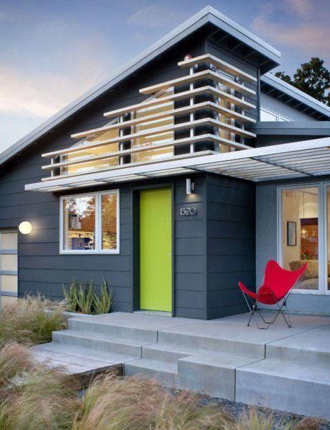 Colores para fachadas modernas | Fachadas verdes | Pinterest ...