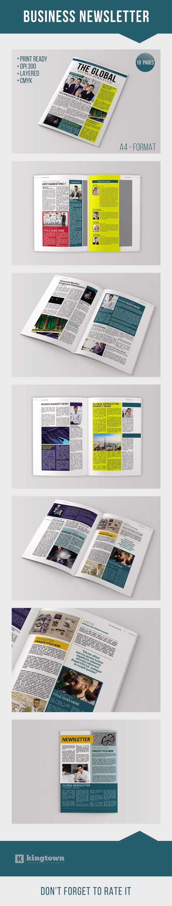 Indesign Business Newsletter Vol 2 On Behance Covers And Layouts