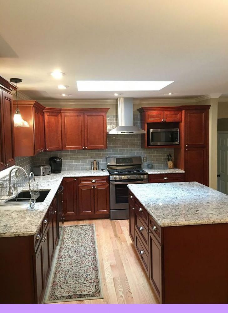 Dark Light Oak Maple Cherry Cabinetry And Matching Kitchen Cabinets With W Cherry Cabinets Kitchen Cherry Wood Kitchen Cabinets Kitchen Remodeling Projects