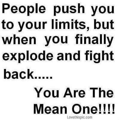 people push you