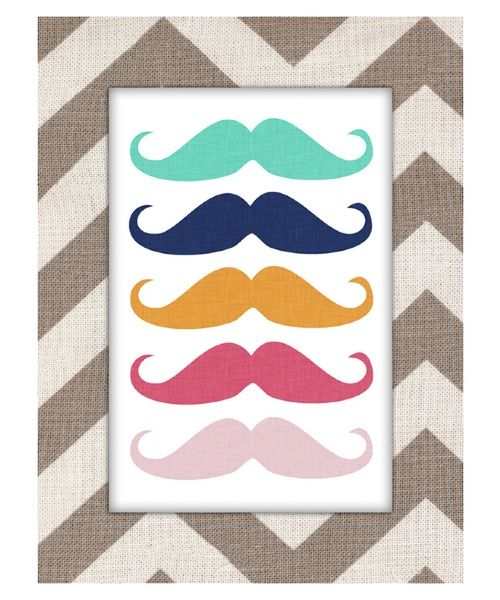 Mustache Canvas Art.