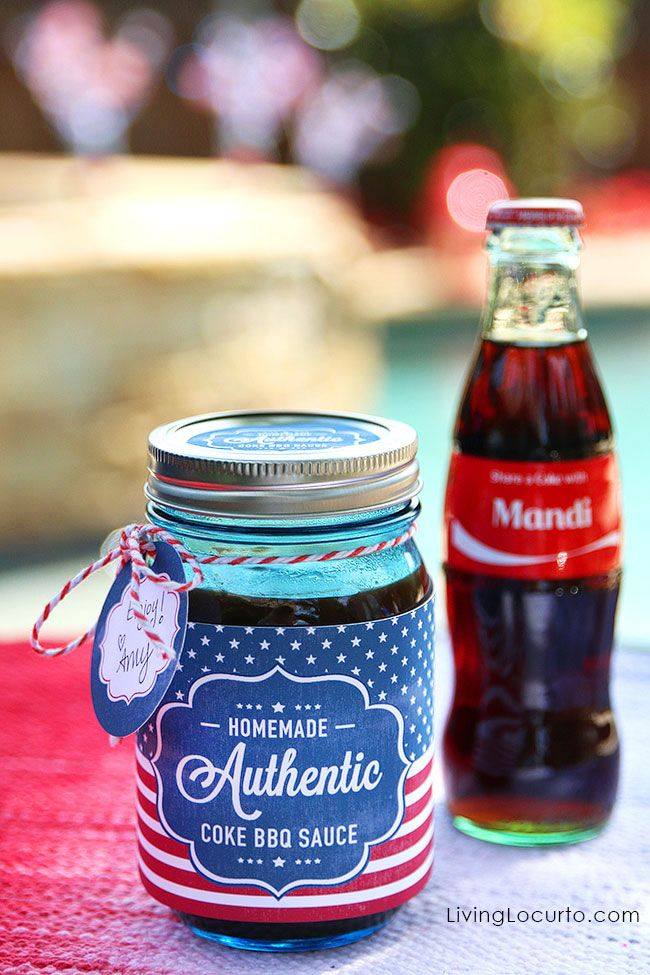Our partner Amy Locurto show us an easy and delicious Coke Barbecue Sauce recipe that pairs nicely with chicken wings. With free printable labels for the mason jars, this is a simple hostess gift idea for a party!